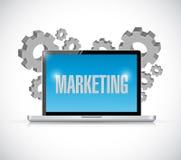 Marketing computer sign illustration Royalty Free Stock Photo
