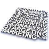 Marketing concept. 3d rendering of marketing related concept words Royalty Free Stock Photos