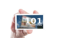 101 marketing concept Royalty-vrije Stock Foto