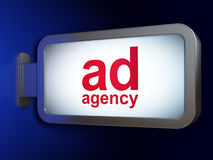 Marketing concept: Ad Agency on billboard Stock Photography