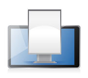 Marketing concept ad stand on tablet Stock Images