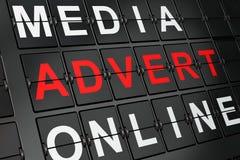 Marketing concept: Advertentie op luchthavenraad stock afbeelding