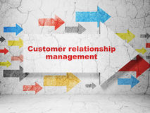 Marketing concept: arrow with Customer Relationship Management on grunge wall background Royalty Free Stock Image