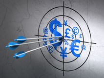 Marketing concept: arrows in Finance Symbol target Royalty Free Stock Photography