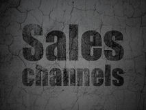Marketing concept: Sales Channels on grunge wall background Royalty Free Stock Image