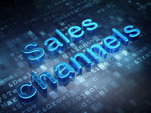 Marketing concept: Blue Sales Channels on digital background Stock Image