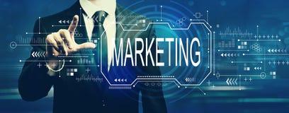 Marketing concept with businessman stock illustration