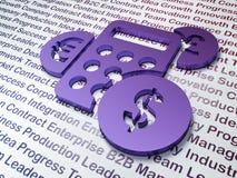 Marketing concept:  Calculator op Bedrijfsachtergrond Royalty-vrije Stock Fotografie
