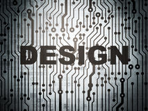 Marketing concept: circuit board with Design Stock Photography