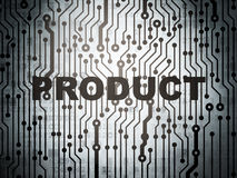 Marketing concept: circuit board with Product Royalty Free Stock Image