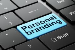 Marketing concept: Personal Branding on computer keyboard background Stock Photos