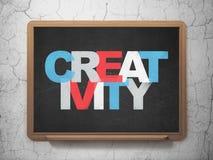 Marketing concept: Creativity on School Board Stock Photos