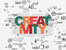 Marketing concept: Creativity on wall background Stock Image