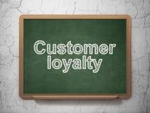 Marketing concept: Customer Loyalty on chalkboard background Royalty Free Stock Image