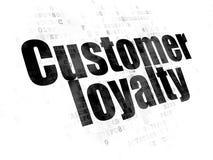 Marketing concept: Customer Loyalty on Digital background. Marketing concept: Pixelated black text Customer Loyalty on Digital background stock image