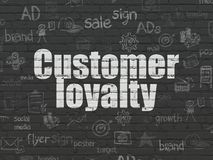 Marketing concept: Customer Loyalty on wall background Royalty Free Stock Photos