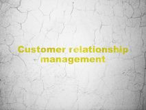 Marketing concept: Customer Relationship Management on wall background Royalty Free Stock Photo