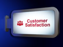 Marketing concept: Customer Satisfaction and Business People on billboard background. Marketing concept: Customer Satisfaction and Business People on advertising Stock Photos