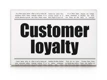 Marketing concept: de Klantenloyaliteit van de krantenkrantekop Stock Afbeeldingen