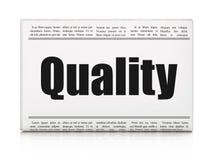 Marketing concept: de Kwaliteit van de krantenkrantekop Royalty-vrije Stock Fotografie