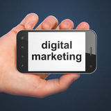 Marketing concept: Digital Marketing on smartphone Royalty Free Stock Photography
