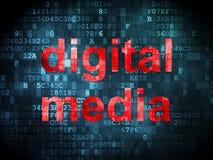 Marketing concept: Digital Media on digital Stock Photo