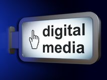 Marketing concept: Digital Media and Mouse Cursor on billboard background. Marketing concept: Digital Media and Mouse Cursor on advertising billboard background Stock Images
