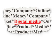 Marketing concept: Digital Media on Paper background Stock Photography
