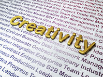 Marketing concept: Golden Creativity on Business Royalty Free Stock Photo