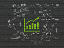 Marketing concept: Growth Graph on wall background Stock Photography