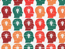 Marketing concept: Head With Light Bulb icons on Royalty Free Stock Images