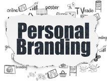 Marketing concept: Het persoonlijke Brandmerken op Gescheurde Document achtergrond stock illustratie