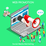 Marketing 01 Concept Isometric Royalty Free Stock Images