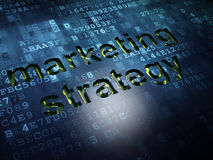 Marketing concept: Marketing Strategie op digitale het schermachtergrond Stock Afbeelding