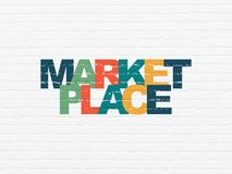Free Marketing Concept: Marketplace On Wall Background Royalty Free Stock Photography - 114857507