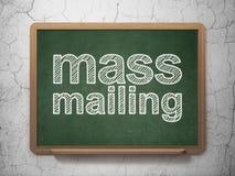 Marketing concept: Massa Post op bordachtergrond Royalty-vrije Stock Afbeelding