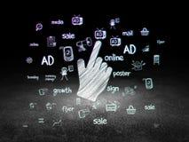 Marketing concept: Mouse Cursor in grunge dark Stock Photos