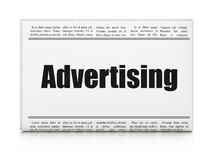 Marketing concept: newspaper headline Advertising Royalty Free Stock Photography