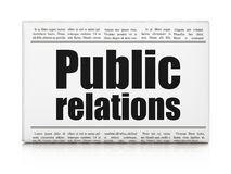 Marketing concept: newspaper headline Public Relations stock photography