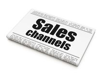 Marketing concept: newspaper headline Sales Channels Royalty Free Stock Photography