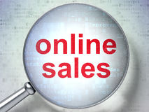 Marketing concept: Online Sales with optical glass Stock Image