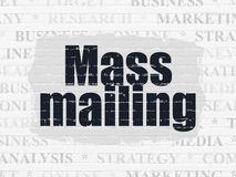Marketing concept: Mass Mailing on wall background. Marketing concept: Painted black text Mass Mailing on White Brick wall background with Tag Cloud royalty free illustration