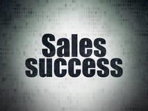 Marketing concept: Sales Success on Digital Data Paper background Stock Image