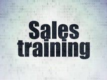 Marketing concept: Sales Training on Digital Data Paper background royalty free illustration
