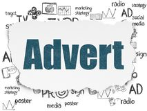 Marketing concept: Advert on Torn Paper background Stock Photo