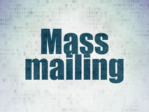 Marketing concept: Mass Mailing on Digital Data Paper background. Marketing concept: Painted blue word Mass Mailing on Digital Data Paper background vector illustration