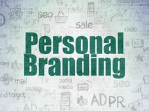 Marketing concept: Personal Branding on Digital Data Paper background Royalty Free Stock Photo