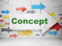 Marketing concept: pijl met Concept op de achtergrond van de grungemuur Royalty-vrije Stock Foto