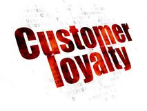 Marketing concept: Customer Loyalty on Digital background Royalty Free Stock Photos