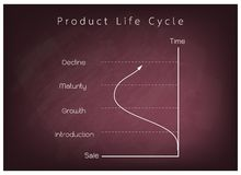 Marketing Concept of Product Life Cycle Chart on Chalkboard Stock Images